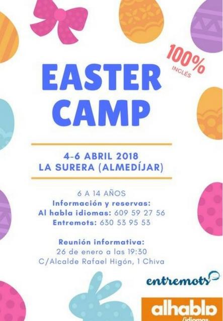 Easter Camp 2018 Entremots, en Almedíjar
