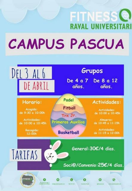 Campus Pascua 2018 Fitness Raval Universitari