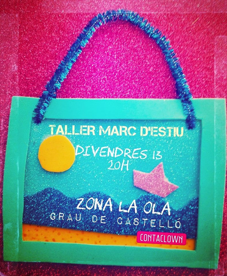 taller en la playa marco de verano contaclown - Castellón Kids