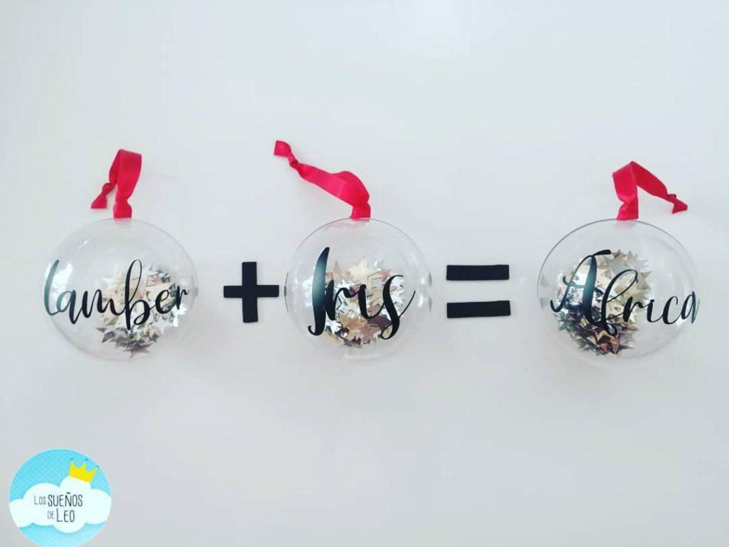 Bolas de Navidad con nombre. Los Sueños de Leo en Castellón Kids