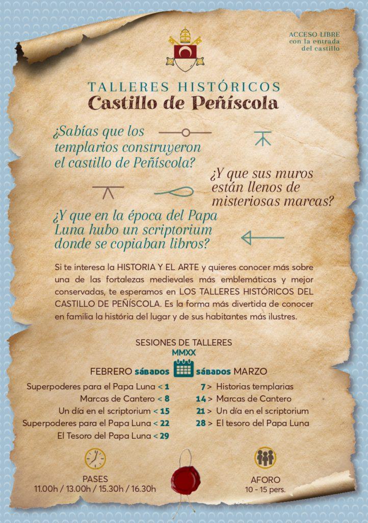 Talleres históricos Castillo de Peñiscola. Castellón Kids